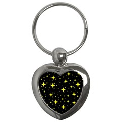Bright Yellow   Stars In Space Key Chains (heart)  by Costasonlineshop