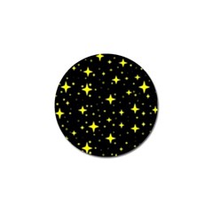 Bright Yellow   Stars In Space Golf Ball Marker (4 Pack) by Costasonlineshop