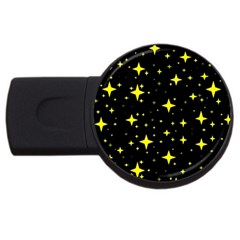 Bright Yellow   Stars In Space Usb Flash Drive Round (2 Gb)