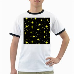Bright Yellow   Stars In Space Ringer T Shirts