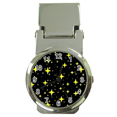 Bright Yellow   Stars In Space Money Clip Watches