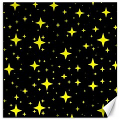 Bright Yellow   Stars In Space Canvas 20  X 20