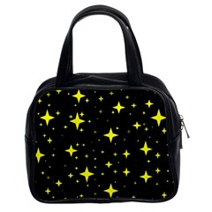 Bright Yellow   Stars In Space Classic Handbags (2 Sides) by Costasonlineshop