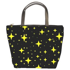 Bright Yellow   Stars In Space Bucket Bags