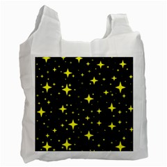 Bright Yellow   Stars In Space Recycle Bag (one Side) by Costasonlineshop
