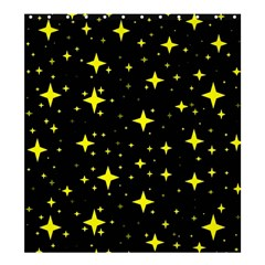 Bright Yellow   Stars In Space Shower Curtain 66  X 72  (large)