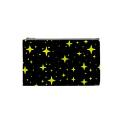 Bright Yellow   Stars In Space Cosmetic Bag (small)