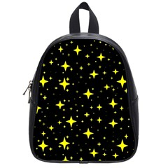 Bright Yellow   Stars In Space School Bags (small)  by Costasonlineshop