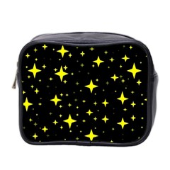 Bright Yellow   Stars In Space Mini Toiletries Bag 2 Side
