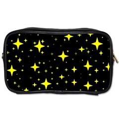 Bright Yellow   Stars In Space Toiletries Bags 2 Side by Costasonlineshop