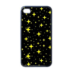 Bright Yellow   Stars In Space Apple Iphone 4 Case (black) by Costasonlineshop