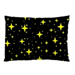 Bright Yellow   Stars In Space Pillow Case (Two Sides) Front