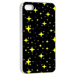 Bright Yellow   Stars In Space Apple Iphone 4/4s Seamless Case (white)