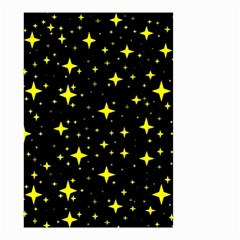Bright Yellow   Stars In Space Small Garden Flag (two Sides) by Costasonlineshop
