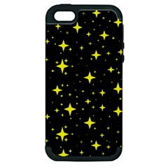 Bright Yellow   Stars In Space Apple Iphone 5 Hardshell Case (pc+silicone) by Costasonlineshop