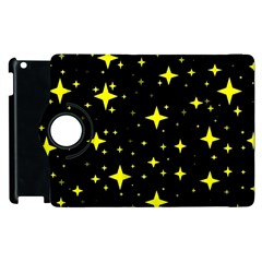 Bright Yellow   Stars In Space Apple Ipad 2 Flip 360 Case
