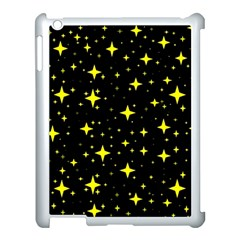 Bright Yellow   Stars In Space Apple Ipad 3/4 Case (white) by Costasonlineshop