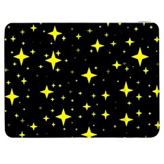Bright Yellow   Stars In Space Samsung Galaxy Tab 7  P1000 Flip Case