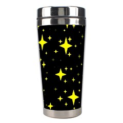Bright Yellow   Stars In Space Stainless Steel Travel Tumblers