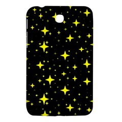 Bright Yellow   Stars In Space Samsung Galaxy Tab 3 (7 ) P3200 Hardshell Case