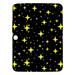 Bright Yellow   Stars In Space Samsung Galaxy Tab 3 (10 1 ) P5200 Hardshell Case  by Costasonlineshop