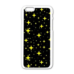 Bright Yellow   Stars In Space Apple Iphone 6/6s White Enamel Case
