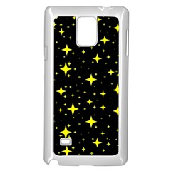 Bright Yellow   Stars In Space Samsung Galaxy Note 4 Case (white)