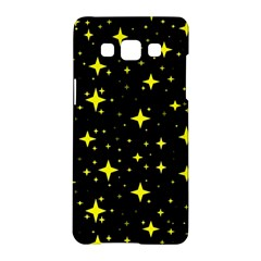 Bright Yellow   Stars In Space Samsung Galaxy A5 Hardshell Case  by Costasonlineshop