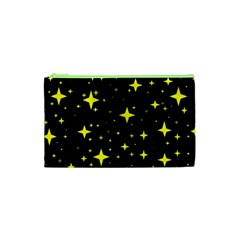 Bright Yellow   Stars In Space Cosmetic Bag (xs) by Costasonlineshop