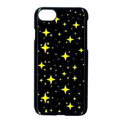 Bright Yellow   Stars In Space Apple Iphone 7 Seamless Case (black)