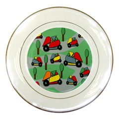 Toy Car Pattern Porcelain Plates by Valentinaart