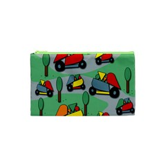 Toy Car Pattern Cosmetic Bag (xs) by Valentinaart
