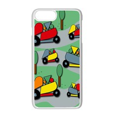 Toy Car Pattern Apple Iphone 7 Plus White Seamless Case