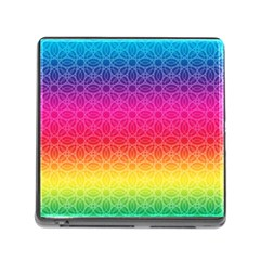 Rainbow Rings Memory Card Reader (square) by PhotoThisxyz
