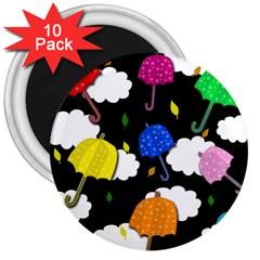 Umbrellas 2 3  Magnets (10 Pack)  by Valentinaart