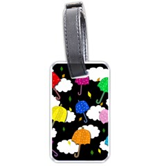 Umbrellas 2 Luggage Tags (one Side)  by Valentinaart