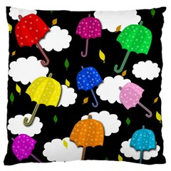 Umbrellas 2 Large Flano Cushion Case (two Sides) by Valentinaart