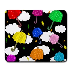 Umbrellas 2 Large Mousepads by Valentinaart