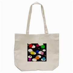 Umbrellas 2 Tote Bag (cream) by Valentinaart