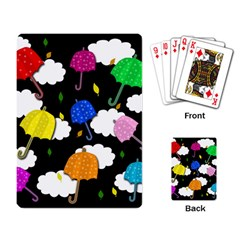 Umbrellas 2 Playing Card by Valentinaart