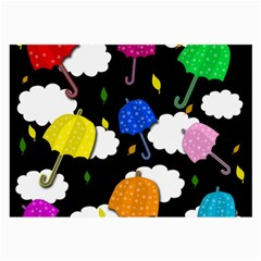 Umbrellas 2 Large Glasses Cloth (2 Side) by Valentinaart