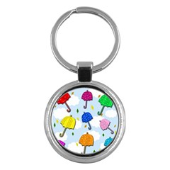 Umbrellas  Key Chains (round)  by Valentinaart