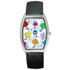 Umbrellas  Barrel Style Metal Watch by Valentinaart