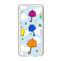Umbrellas  Apple Ipod Touch 5 Case (white) by Valentinaart