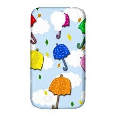 Umbrellas  Samsung Galaxy S4 Classic Hardshell Case (pc+silicone) by Valentinaart