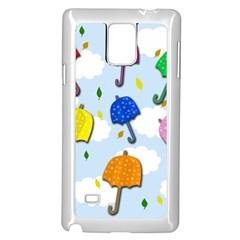 Umbrellas  Samsung Galaxy Note 4 Case (white) by Valentinaart