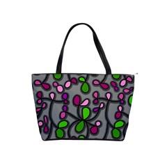 Floral Pattern Shoulder Handbags by Valentinaart