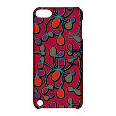 Red Floral Pattern Apple Ipod Touch 5 Hardshell Case With Stand by Valentinaart