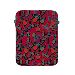 Red Floral Pattern Apple Ipad 2/3/4 Protective Soft Cases by Valentinaart