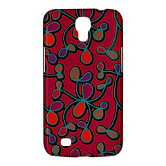 Red Floral Pattern Samsung Galaxy Mega 6 3  I9200 Hardshell Case by Valentinaart